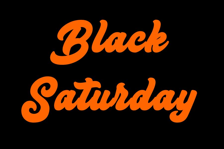 "blacksaturday900 - Heute: ""Black Saturday"" statt ""Black Friday"""