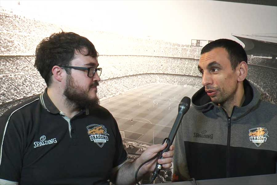 dragons 1 - Intersport-Sportstudio: Roman Gisbertz im Interview mit Yassin Idbihi