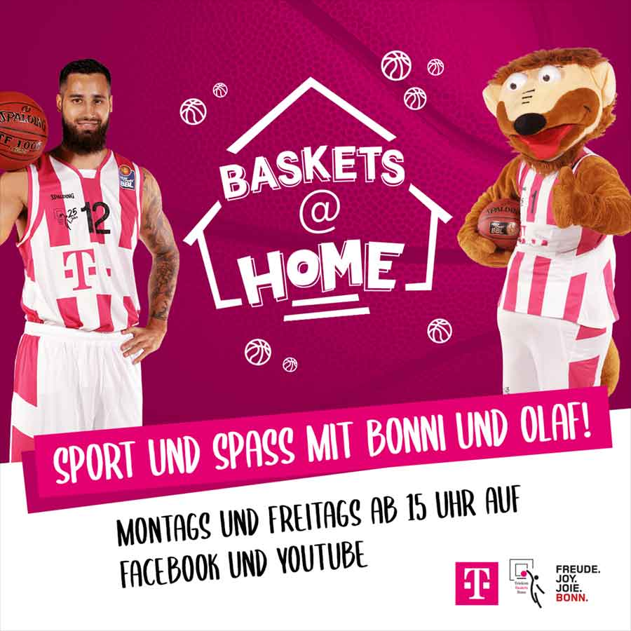 Baskets@home Key Visual - Freitag startet Online-Trainingsprogramm der Baskets